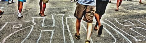 "Sidewalk chalk reads ""Phish"""