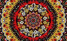 Red, yellow, and blue circle pattern