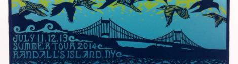 Randall's Island blue ticket art