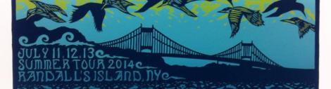 Randall's Island blue ticket art